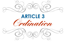 Article 3: Ordination