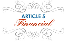 Article 5: Financial